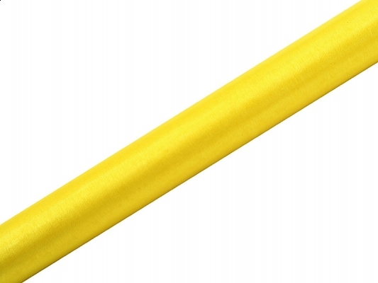 Dekorace na stůl - Dekorační organza 0,16x9m - žlutá
