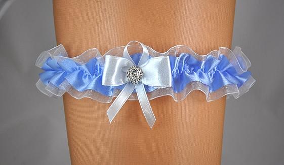 Doplňky pro nevěstu - Svatební podvazek s mašličkou