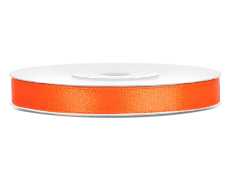 Vývazky, placky a stuhy - Saténová stuha oranžová