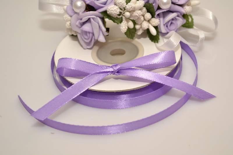 Vývazky, placky a stuhy - Saténová stuha lila