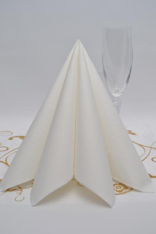 Dekorace na stůl - Ubrousek Duni - bílá