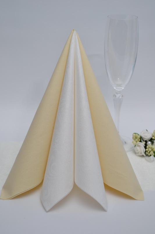 Dekorace na stůl - Ubrousek Duni - krémová