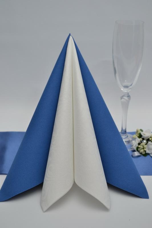 Dekorace na stůl - Ubrousek Duni - modrá