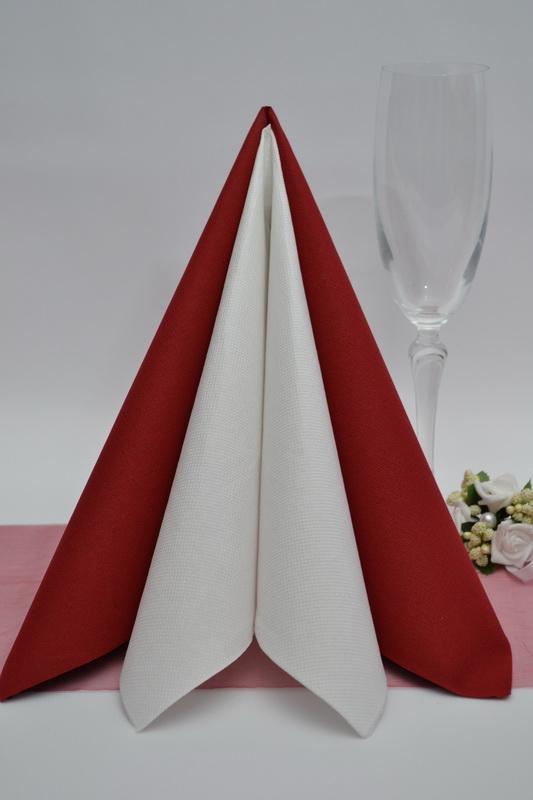Dekorace na stůl - Ubrousek Duni - bordó