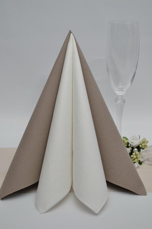 Dekorace na stůl - Ubrousek Duni - světle hnědá