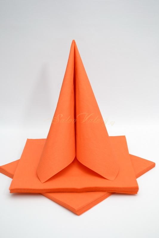 Dekorace na stůl - Třívrstvé ubrousky - oranžová