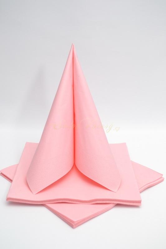Dekorace na stůl - Třívrstvé ubrousky - růžová