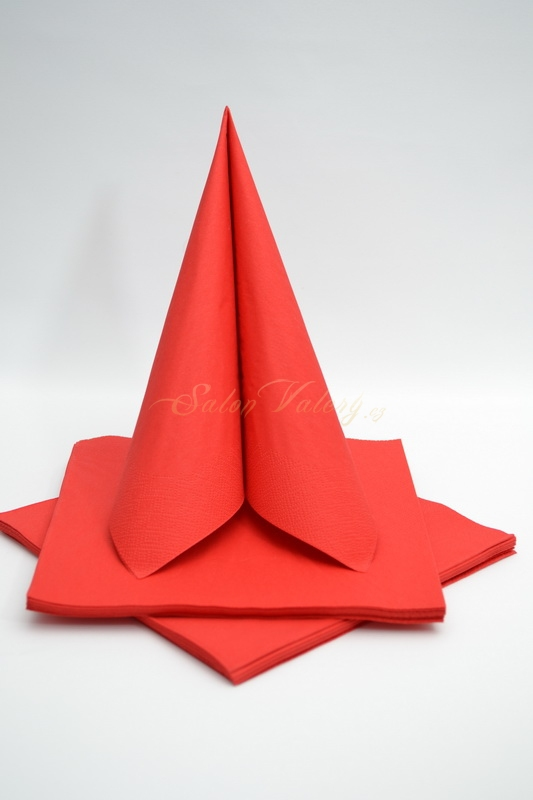 Dekorace na stůl - Třívrstvé ubrousky - červená