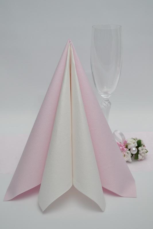 Dekorace na stůl - Ubrousky Duni - světle růžová