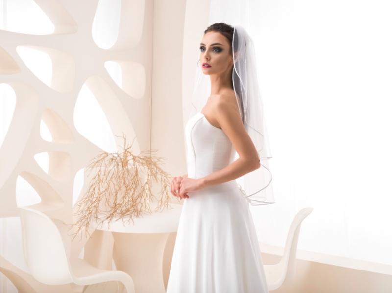 Doplňky pro nevěstu - Svatební závoj se saténovým lemem