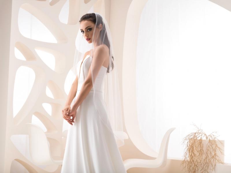 Doplňky pro nevěstu - Dvouvrstvý svatební závoj