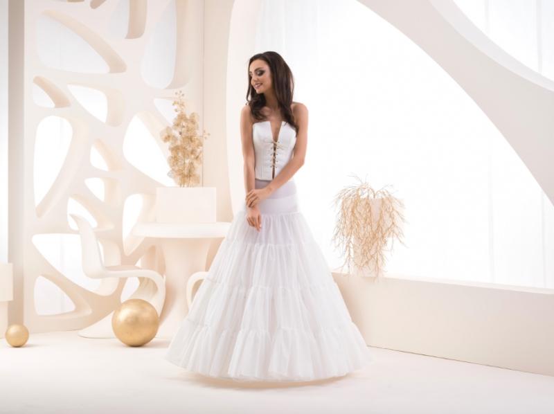Doplňky pro nevěstu - Tříkruhová spodnice s volány - obvod 270 cm