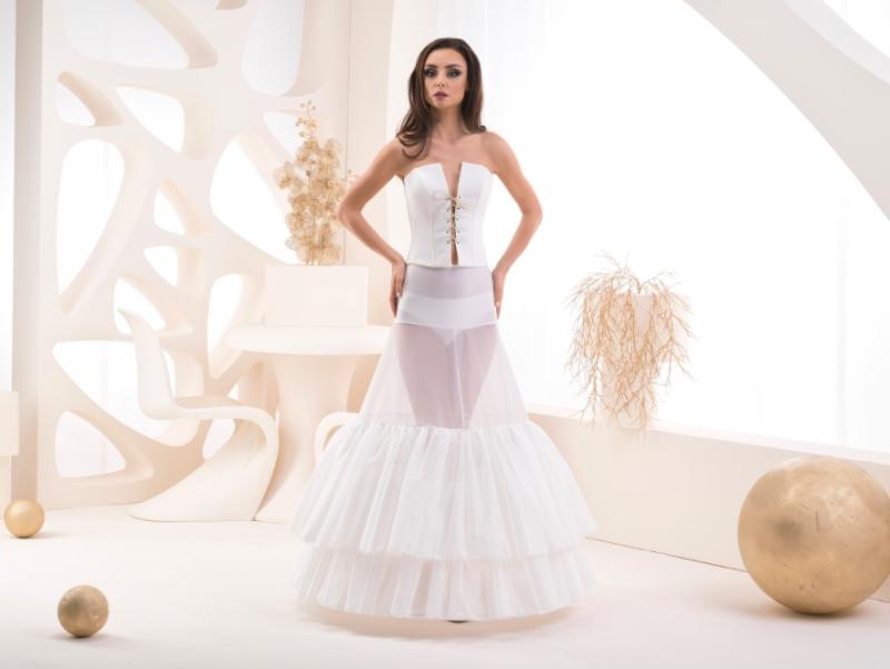 Doplňky pro nevěstu - Spodnice s elastickým pasem a volány