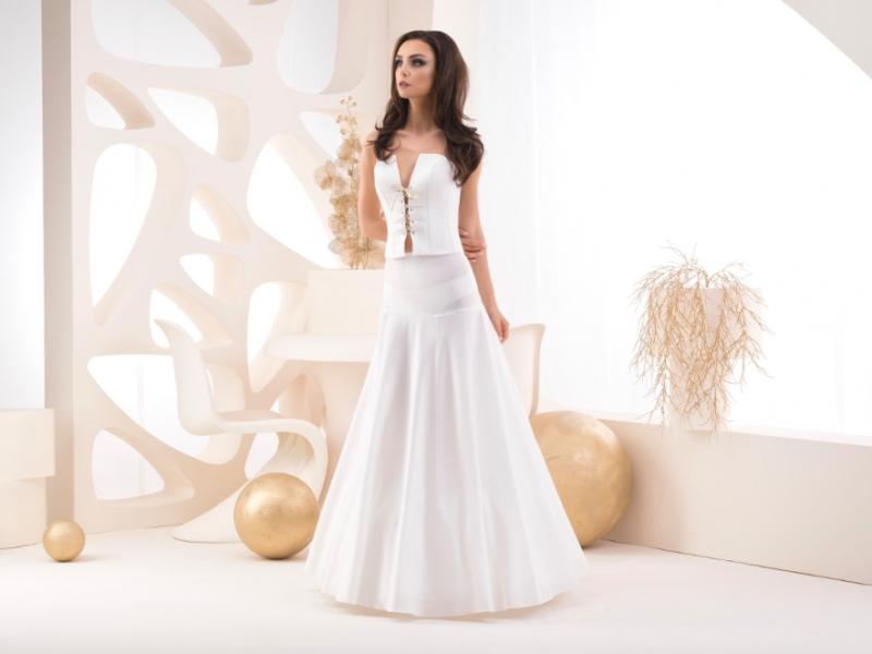 Doplňky pro nevěstu - Dvoukruhová spodnice s volánem