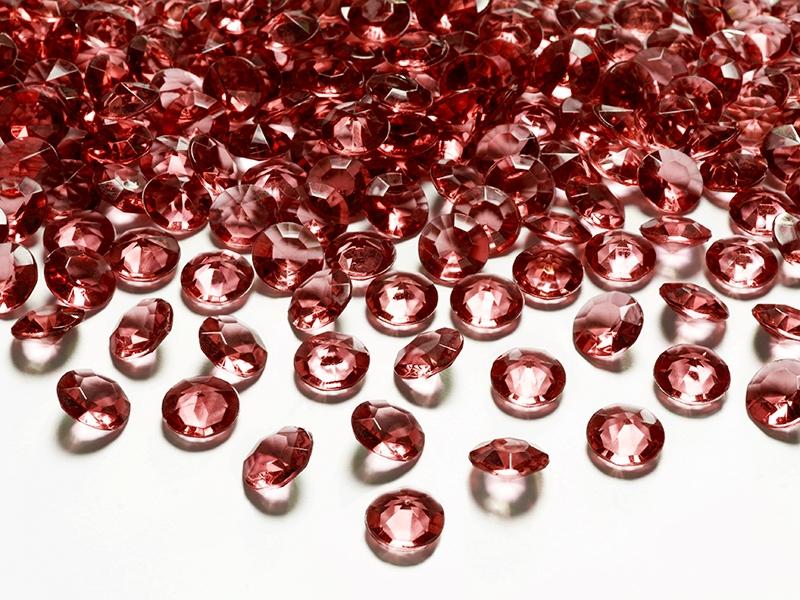 Dekorace na stůl - Diamanty - bordó