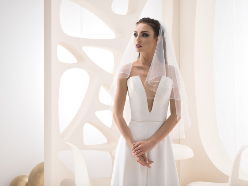 Doplňky pro nevěstu - Jednoduchý svatební závoj