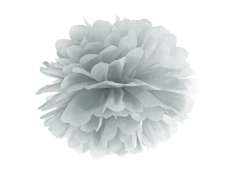 Svatební ozdoby a doplňky - Pompom - stříbrná