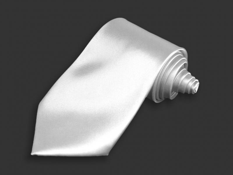 Doplňky pro ženicha - Kravata bílá