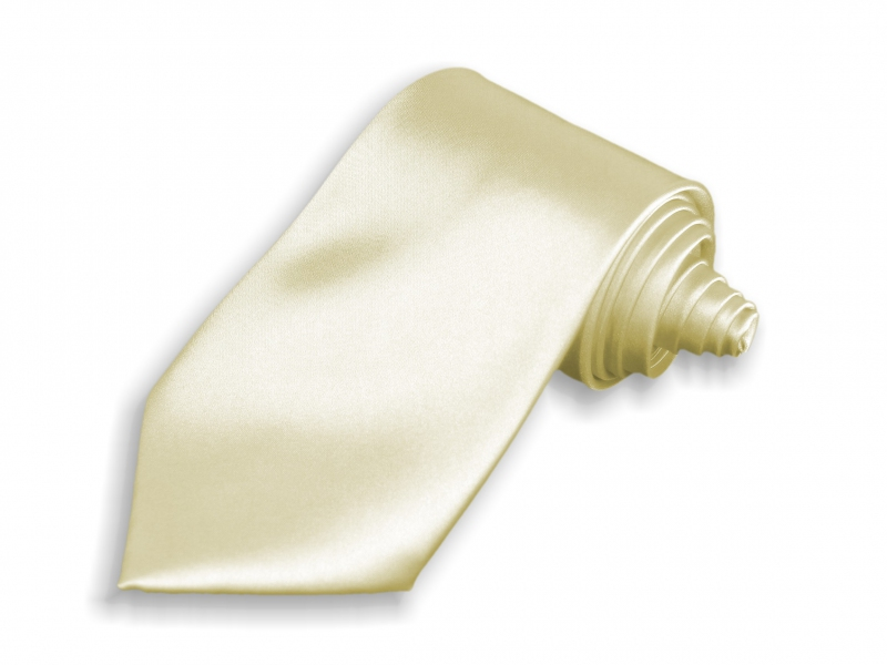 Doplňky pro ženicha - Kravata béžová