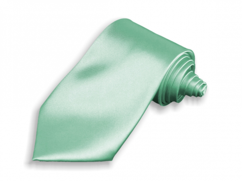 Doplňky pro ženicha - Kravata světle zelená