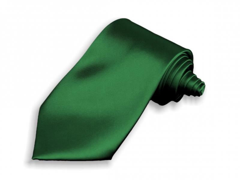 Doplňky pro ženicha - Kravata tmavě zelená