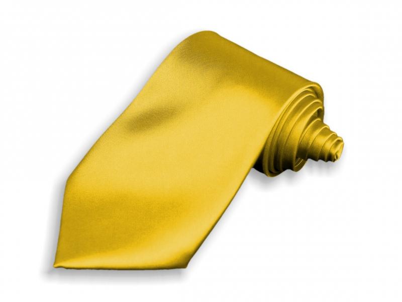 Doplňky pro ženicha - Kravata zlatá
