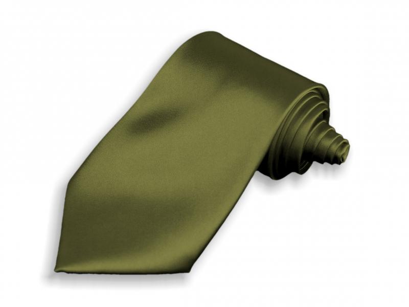 Doplňky pro ženicha - Kravata khaki