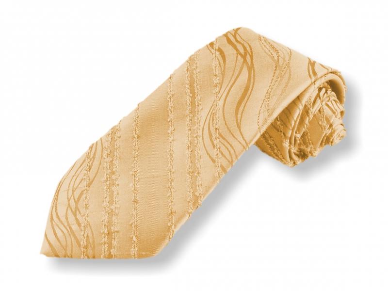 Doplňky pro ženicha - Tkaná kravata - béžová