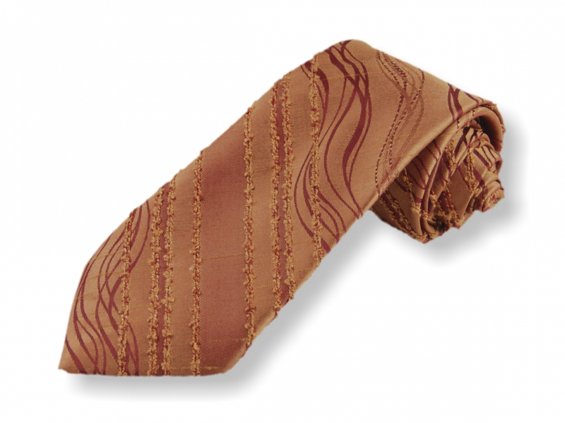 Doplňky pro ženicha - Tkaná kravata - hnědá