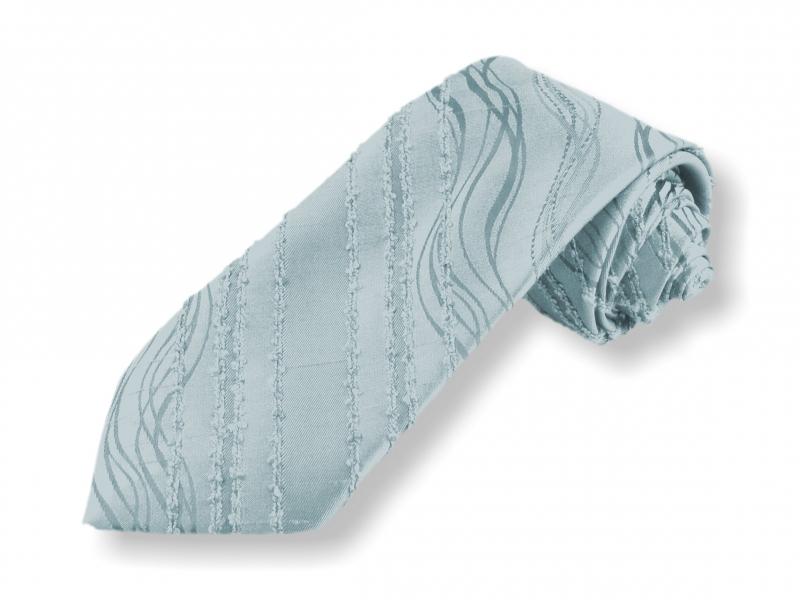 Doplňky pro ženicha - Tkaná kravata - modrá