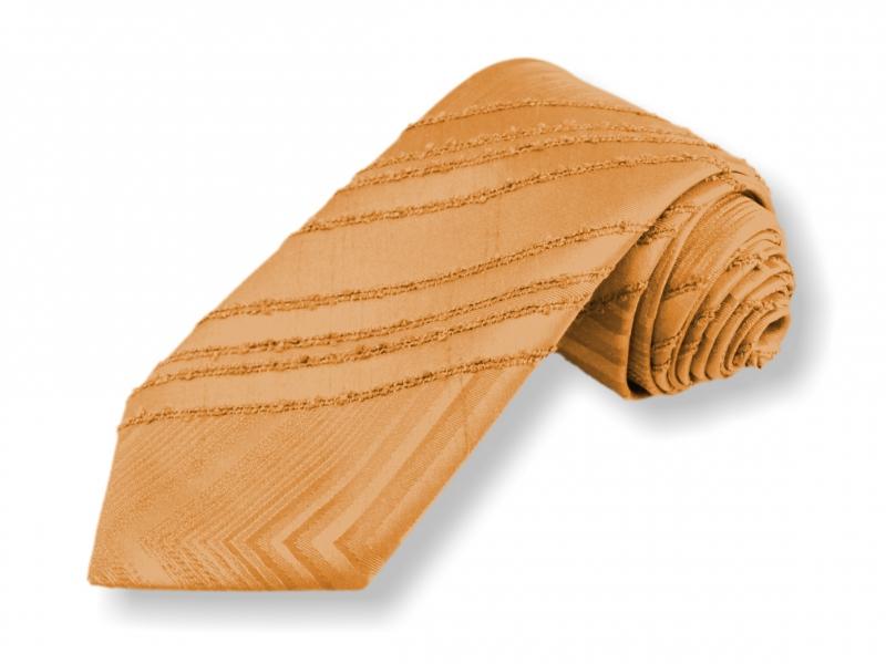Doplňky pro ženicha - Tkaná kravata - žlutá