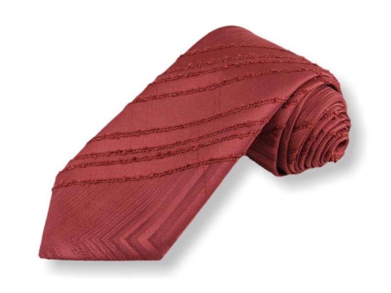Doplňky pro ženicha - Tkaná kravata - červená