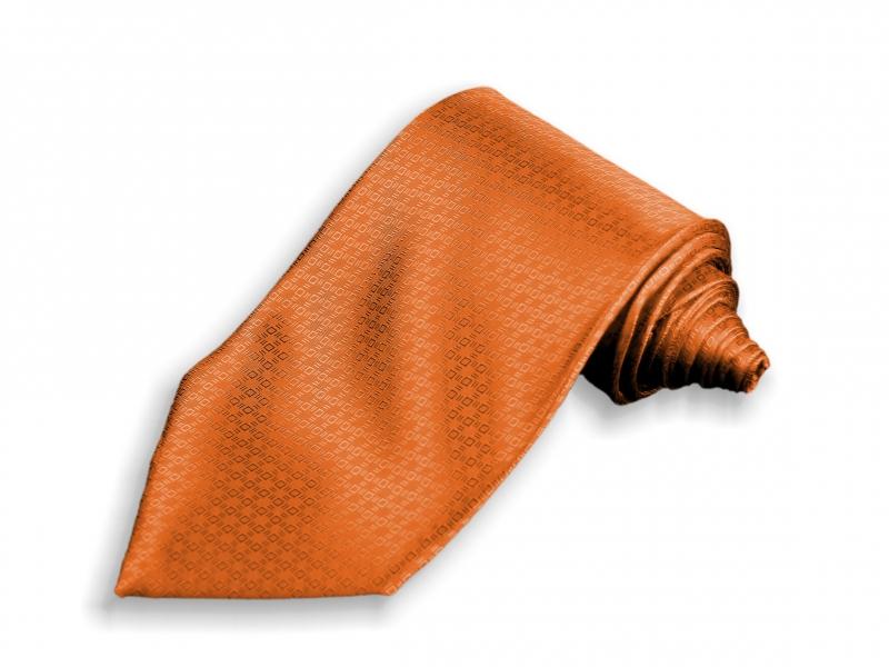 Doplňky pro ženicha - Oranžová kravata Paříž