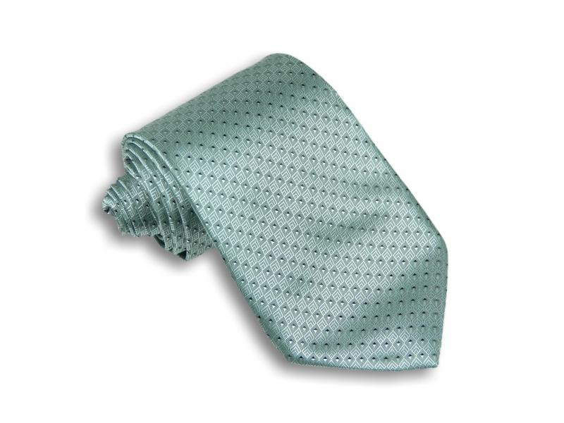 96e079ce6ce Doplňky pro ženicha - Mentolová kravata se vzorem