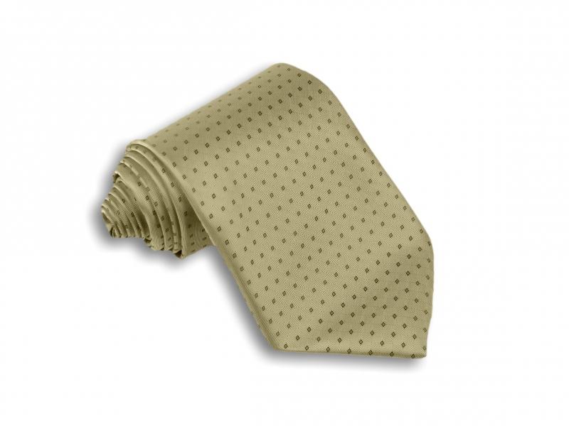 Doplňky pro ženicha - Béžová kravata se vzorem