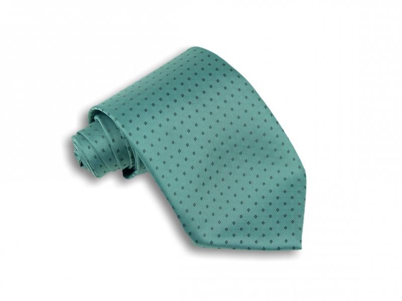 Doplňky pro ženicha - Zelená kravata se vzorem