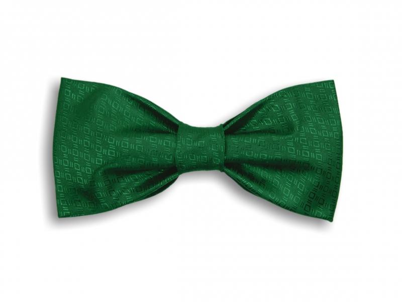Doplňky pro ženicha - Zelený tkaný motýlek