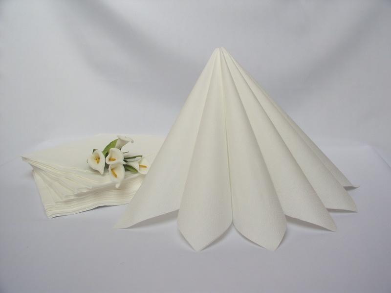 Bílá - Dvouvrstvé ubrousky - bílá