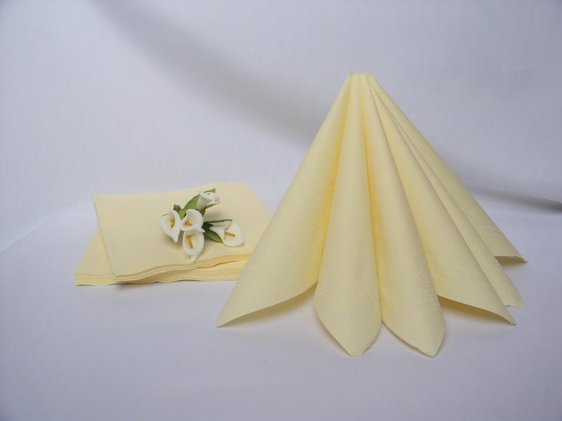 Dekorace na stůl - Dvouvrstvé ubrousky - krémová