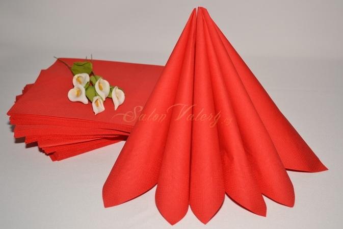 Červená - Dvouvrstvé ubrousky - červená
