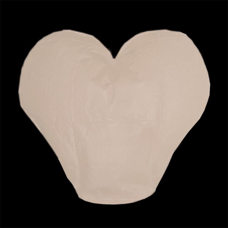Lampióny štěstí - Lampion štěstí srdce - bílé