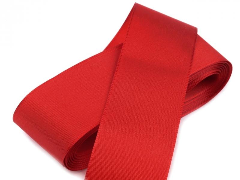 Vývazky, placky a stuhy - Taftová stuha červená - 40mm