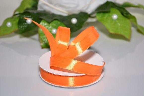 Vývazky, placky a stuhy - Saténová stuha 12mm - oranžová