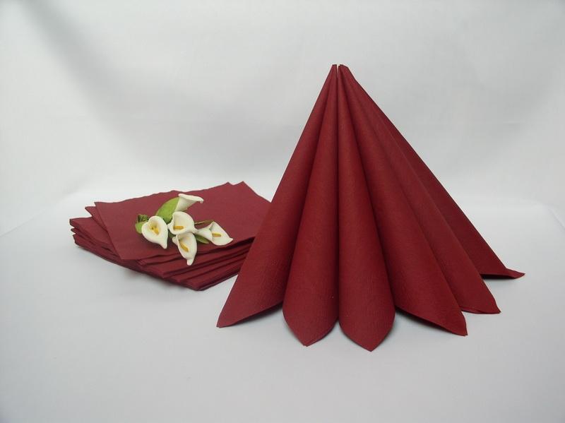 Dekorace na stůl - Dvouvrstvé ubrousky - bordó