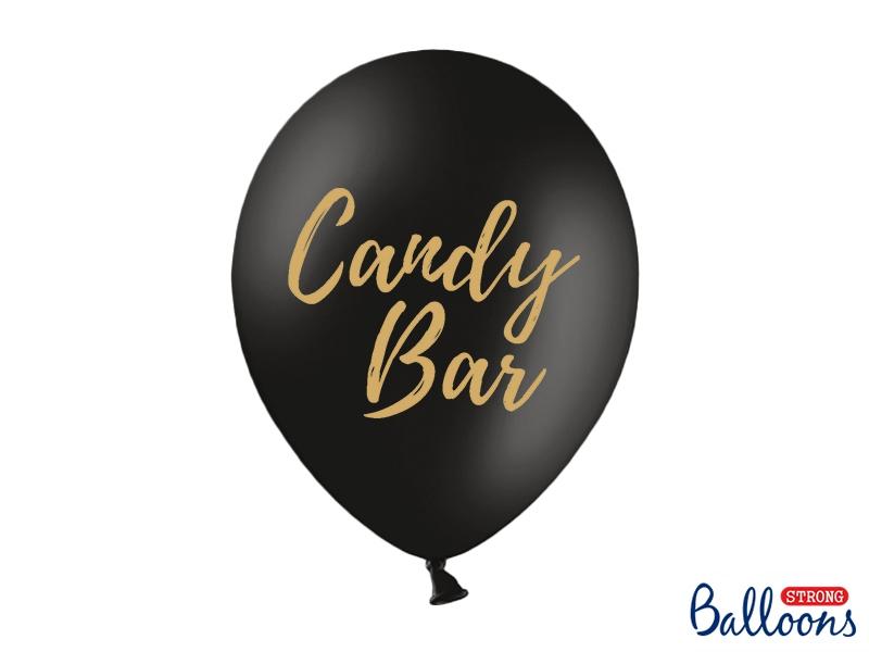 Svatební ozdoby a doplňky - Černý balónek s nápisem Candy bar