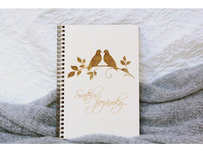 Svatební diáře a deníky - Deník na poznámky