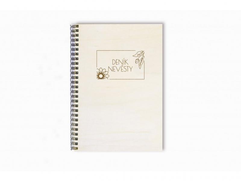 Svatební diáře a deníky - Deník nevěsty květiny
