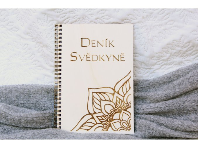 Svatební diáře a deníky - Deník pro svědkyni kytka