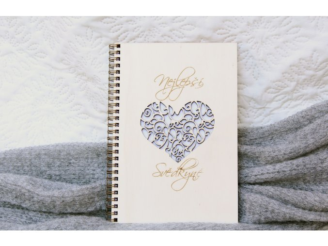 Svatební diáře a deníky - Deník pro svědkyni srdce
