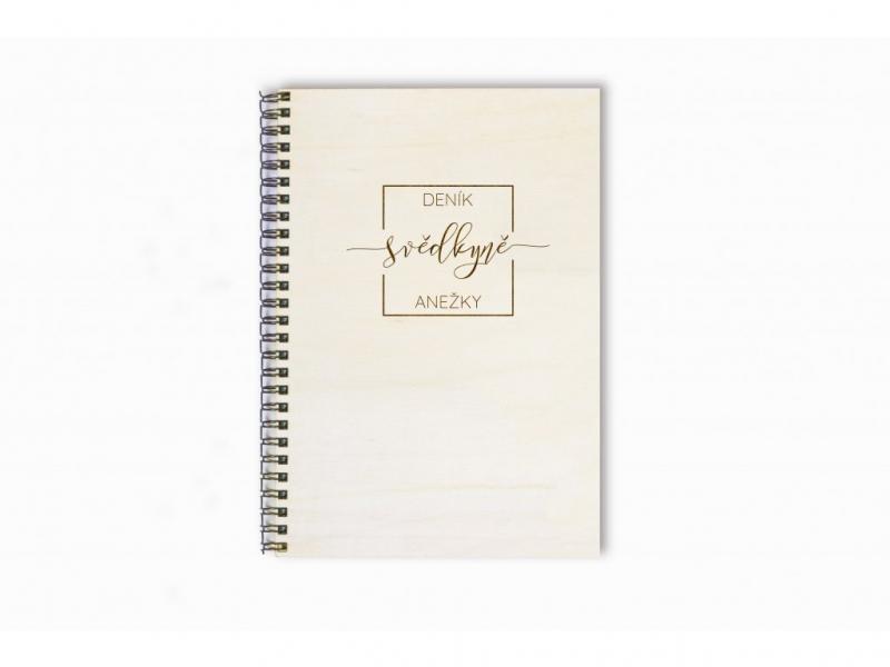 Dary pro svědka a svědkyni - Deník svědkyně minimalistický